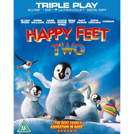 Locandina italiana DVD e BLU RAY Happy Feet 2
