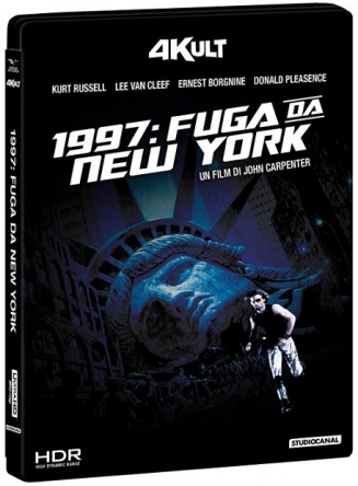Locandina italiana DVD e BLU RAY 1997: Fuga da New York