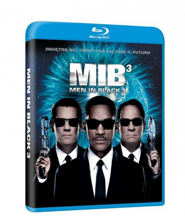 Locandina italiana DVD e BLU RAY Men in Black 3