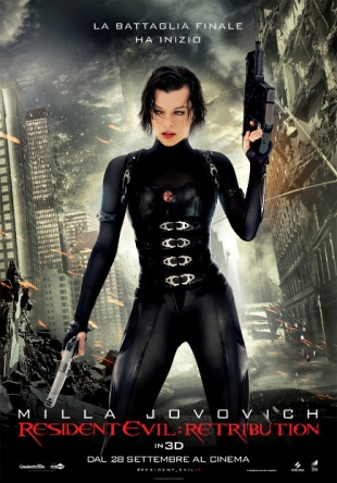 Locandina italiana Resident Evil: Retribution