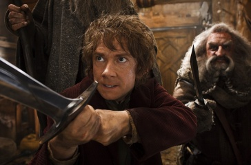 Lo Hobbit: La desolazione di Smaug - (L to R): Martin Freeman 'Bilbo Baggins' e John Callen 'Oin' in una foto di scena - Photo Credit: Mark Pokorny.