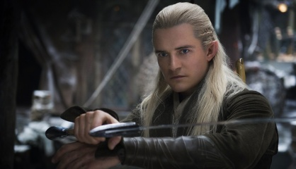 Lo Hobbit: La desolazione di Smaug - Orlando Bloom 'Legolas' in una foto di scena - Photo Credit: Mark Pokorny.