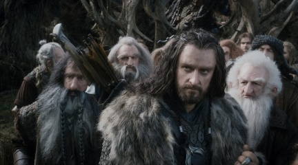 Lo Hobbit: La desolazione di Smaug - (L to R): William Kircher 'Bifur', John Callen 'Oin', Richard Armitage 'Thorin Oakenshield' e Ken Stott 'Balin' in una foto di scena - Photo Credit: Courtesy of Warner Bros. Pictures.