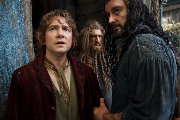 Lo Hobbit: La desolazione di Smaug - (L to R): Martin Freeman 'Bilbo Baggins', Jed Brophy 'Nori' e Richard Armitage 'Thorin Oakenshield' in una foto di scena - Photo Credit: Mark Pokorny.