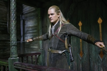 Lo Hobbit: La desolazione di Smaug - Orlando Bloom 'Legolas' in una foto di scena - Photo Credit: Todd Eyre.