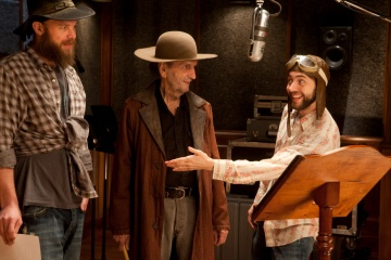 Film Title: Rango - (L to R): Ryan Hurst, voce originale di 'Jedidiah', Harry Dean Stanton, voce originale di 'Balthazar' e Vincent Kartheiser, voce originale di 'Ezekiel' sul set - Photo Credit: Stephen Vaughan