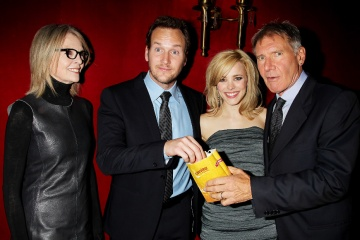 Morning Glory - (L to R): Diane Keaton, 'Colleen Peck'; Patrick Wilson, 'Adam Bennett'; Rachel McAdams, 'Becky Fuller' e Harrison Ford 'Mike Pomeroy' - World Premiere al Ziegfield Theatre di New York, USA, 7 Novembre 2010.