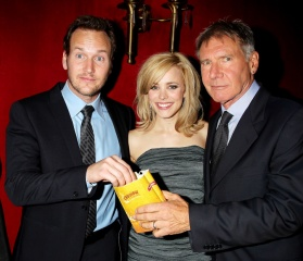 Morning Glory - (L to R): Patrick Wilson, 'Adam Bennett'; Rachel McAdams, 'Becky Fuller' e Harrison Ford, 'Mike Pomeroy' - World Premiere al Ziegfield Theatre di New York, USA, 7 Novembre 2010.